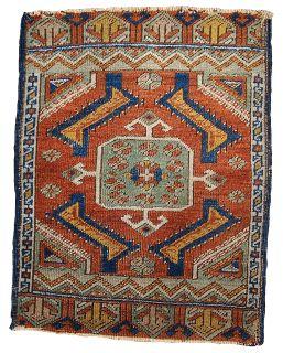 Handmade antique Turkish Yastik rug, 1B347