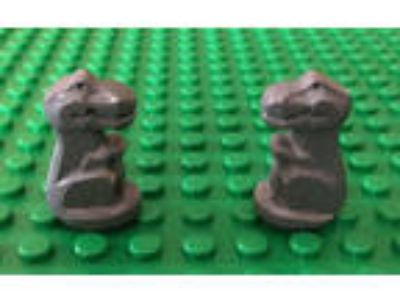 NEW LEGO Dark Gray T-Rex Baby Dinosaur (Lot of 2) - FAST
