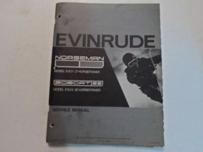 Buy 1972 Evinrude Norseman E1521 Bobcat SS E1523 Service Repair Manual 27HP STAINED motorcycle in Sterling Heights, Michigan, United States, for US $29.95