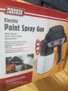 Electric paint spray gun (used one time)