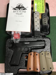 For Sale: Rock Island Armory ROCK Standard FS 1911A1 with Extras