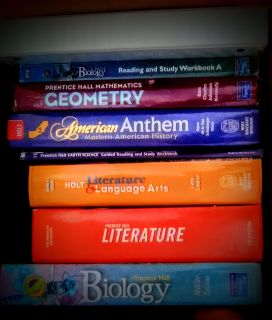 Highschool text books for,home school