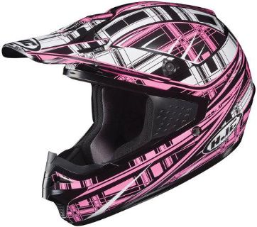 Buy HJC CS-MX Stagger Pink/Black/White Off-Road Motorcycle Helmet CSMX Size Small motorcycle in South Houston, Texas, US, for US $89.99