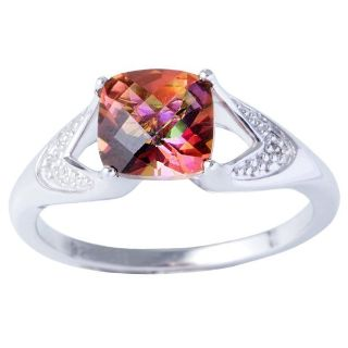 ***BRAND NEW***Sunset Topaz and Diamond Accent Ring***SZ 7