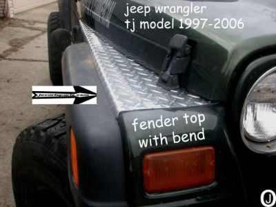 Buy JEEP TJ DIAMOND PLATE FULL TOP FENDER COVERS WITH BEND. SET OF 2 motorcycle in Elmwood Park, Illinois, United States