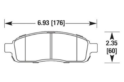 Purchase HAWK HB644Z.785 - 2008 Ford F-150 Front Brake Pads Ceramic motorcycle in Chino, California, US, for US $93.81