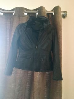 Favorite black leather jacket sz small from banana republic