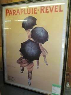 Large French Art Deco Umbrella Poster