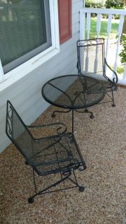 Children's wrought iron table and chairs