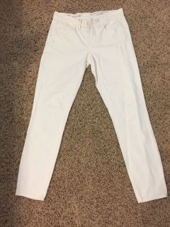 Madewell Skinny Ankle white jeans; brand new cost 80.00-128.00