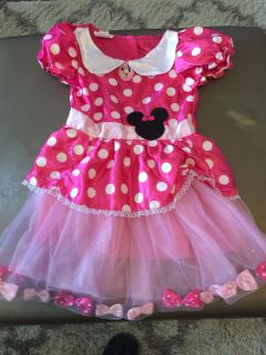 Minnie Mouse Play Dress + Shoes Size 4-6X