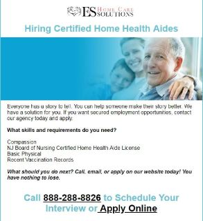 Change Someone's Story for the Better! Hiring Certified Home Health Aides
