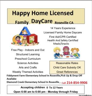 Happy Home Licensed family daycare