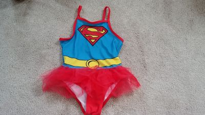 Super Girl 4T Swim Suit Bathing Suit with Tutu Attached
