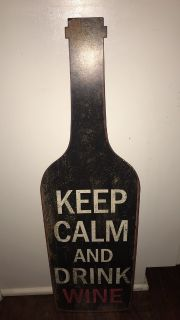Metal sign Keep Calm & Drink Wine