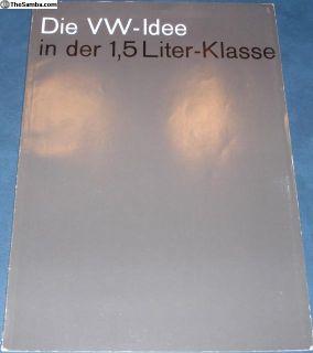 1964 50 Page Type 3/III Sales Brochure German