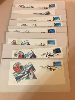 SET OF 8 SEALED FIRST EDITION STAMPED LETTERS OF 2002 WINTER OLYMPICS