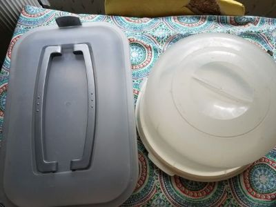 vegetable trays and cake carriers