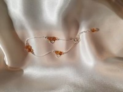 Baltic amber with silver bracelet