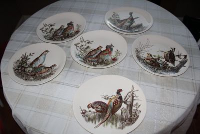 Johnson Brothers 10 dinner Plates-Game Birds Pattern-six plates in all-$25 Each OBO Includes-...