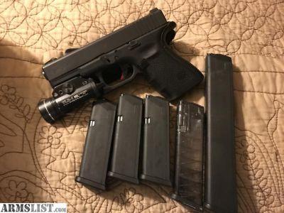 For Sale/Trade: Glock 19 gen 4 mint, zev tech trigger night sights