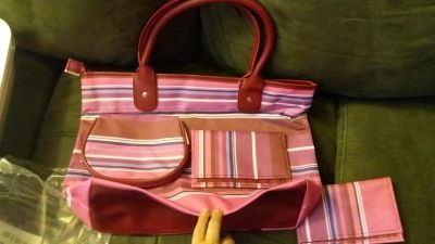 Large bag, wallet and smaller purse. New