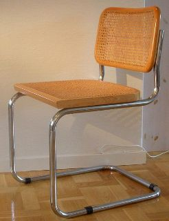 Set of 2 Cane and Wood Cesca Chairs