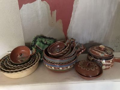Vintage Mexican pottery large assortment