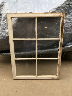 36 x 27 vintage collectible antique window-sturdy-(gar)