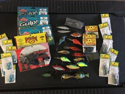 New Fishing lures and bait large lot