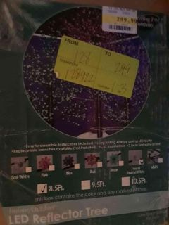 8 1/2 ft indoor/outdoor Tree w/clear lights - brand new in sealed box, $75 - originally $299.