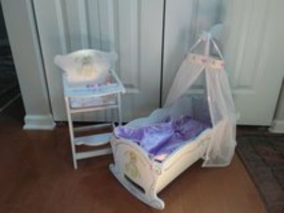 doll cradle and high chair