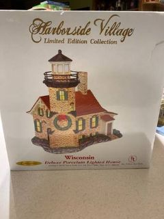 HARBORSIDE VILLAGE LIGHTHOUSE COLLECTIBLE - NEW IN BOX