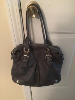Beautiful gray leather purse from QVC