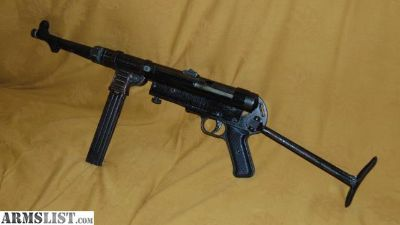 For Sale: MGC68 MP40 MOVIE PROP BLANK MACHINE GUN W/CLIP, STOCKS