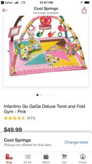 Infantino deluxe baby gym