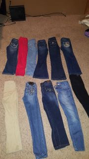 Girls size 7 jeans and straight jeans and school pants miss me jeans justice Cherokee and more