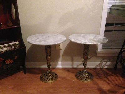 Bronze And Marble Tables