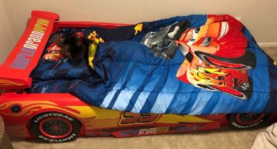 Twin size Lightning McQueen bed frame