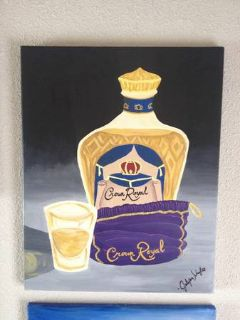 Crown Royal hand painted painting on canvas