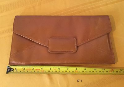 Vintage Large Caramel leather Clutch