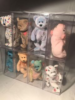 Bundle of 8 Collectible Beanie Babies