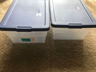 New Storage Boxes Sets of 2 for $6