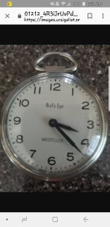 Bulls eye westclox pocket watch