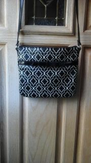 Nice black and white crossbody never used