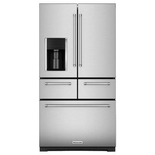 SALE ** KitchenAid 26 cf French Door 5 Door Refrigerator KRMF706ESS