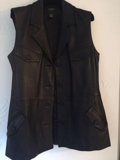 Leather vest size small