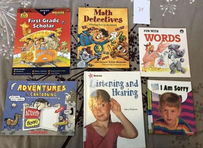 Books for 1st graders - math, reading writing feelings Set 7Y