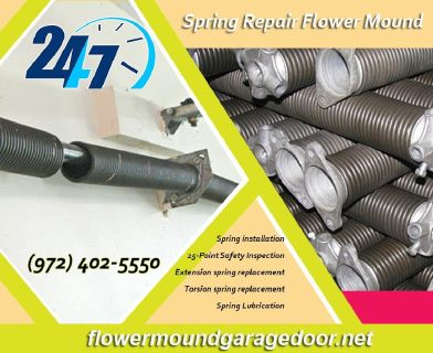 Call (972) 402-5550 | 24/7 Garage door Spring Repair ($25.95) - Flower Mound  Dallas,  75022 TX