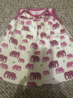 Pink Chicken soft elephant dress 3/6 months